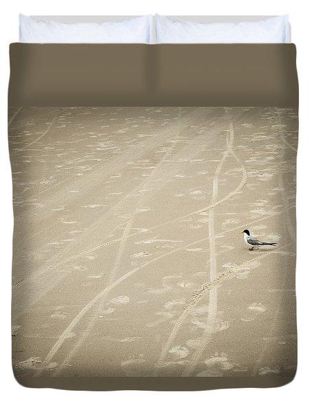 Waiting My Turn Duvet Cover by Carolyn Marshall