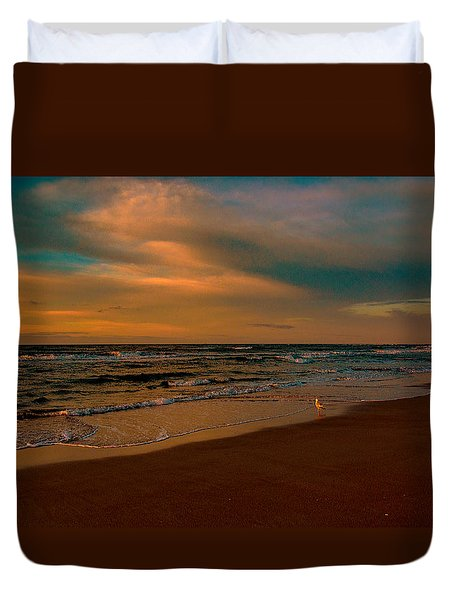Waiting On The Dawn Duvet Cover by John Harding