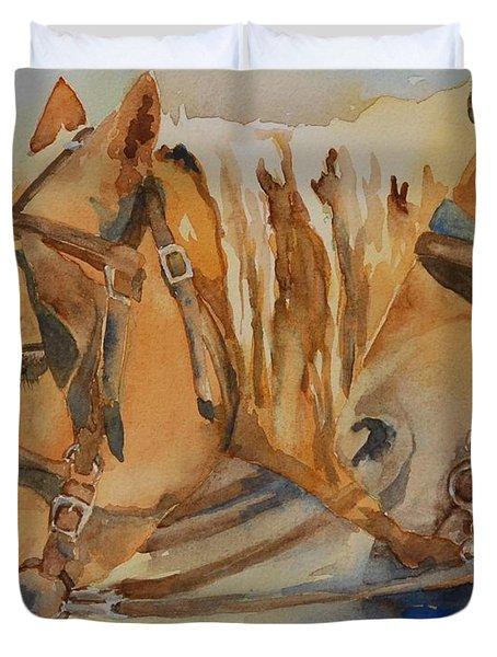 Waiting Patiently Duvet Cover by Gretchen Bjornson