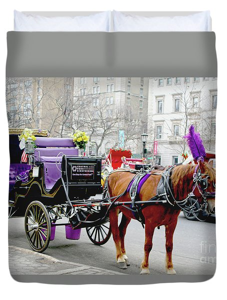 Duvet Cover featuring the photograph Waiting by Sandy Moulder