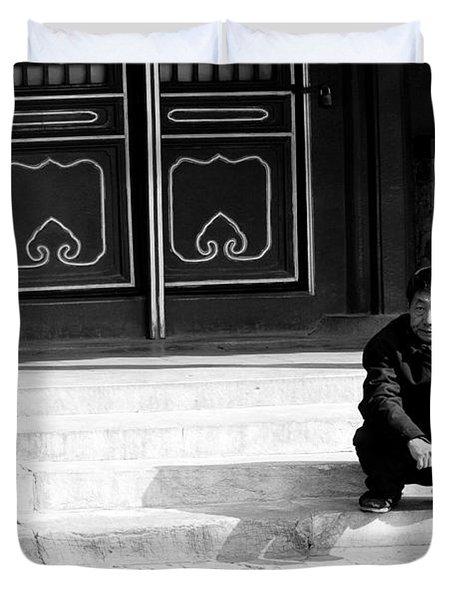 Waiting Duvet Cover by Sebastian Musial