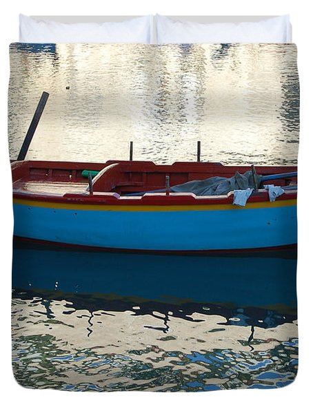 Waiting To Go Fishing Duvet Cover
