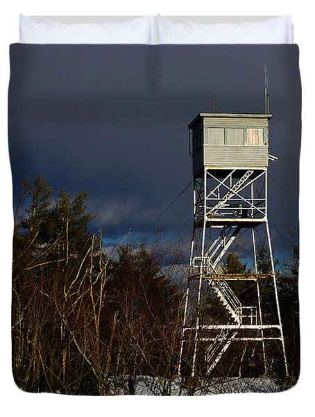 Waiting Tower Duvet Cover