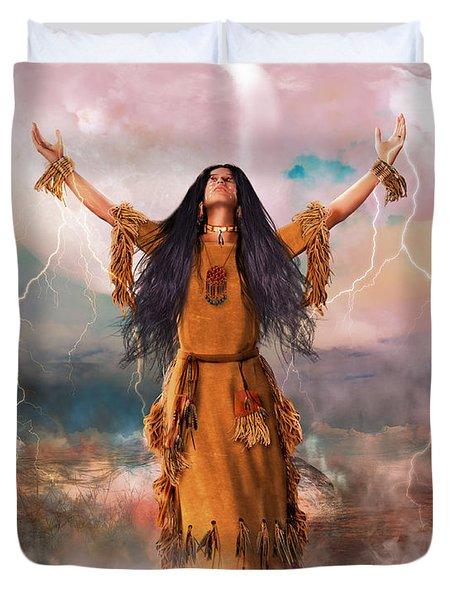 Wakan Tanka The Great Spirit Duvet Cover