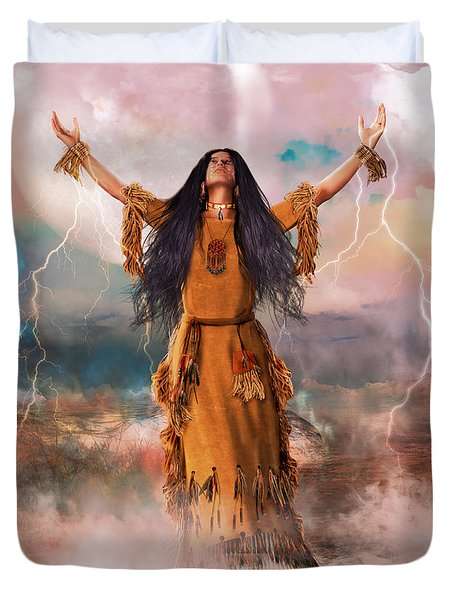 Wakan Tanka The Great Spirit Duvet Cover