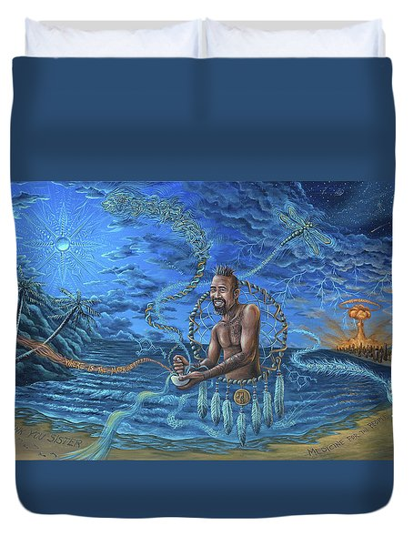 Wake The Dreams Into Realities Duvet Cover