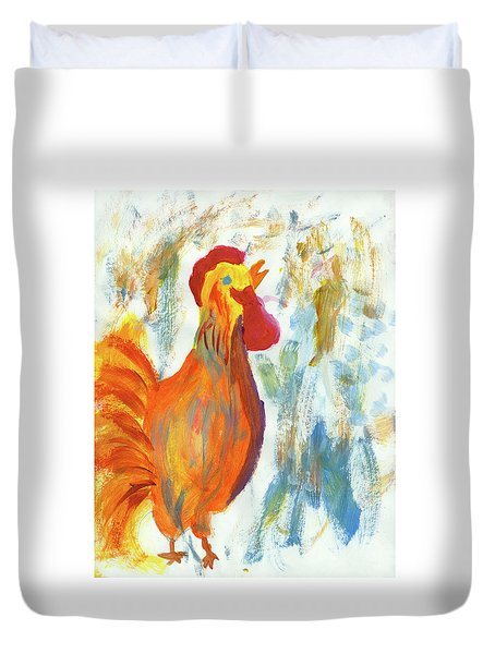 Wake Up Call Duvet Cover
