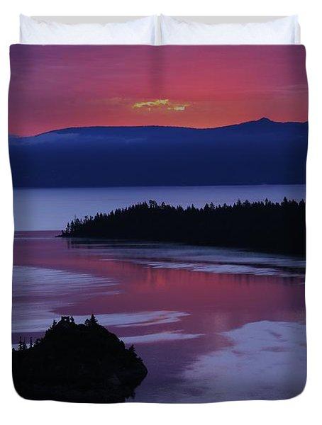 Wake Up In Lake Tahoe  Duvet Cover
