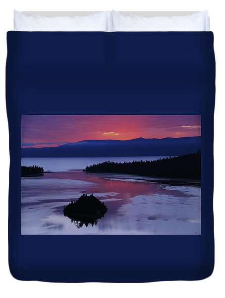 Wake Up In Lake Tahoe  Duvet Cover by Sean Sarsfield