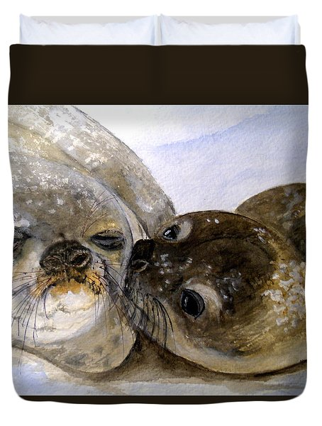 Wake Up Kiss Duvet Cover