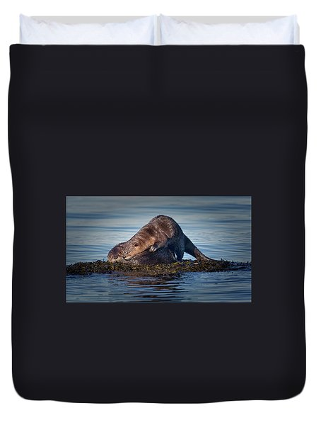 Duvet Cover featuring the photograph Wake Up by Randy Hall