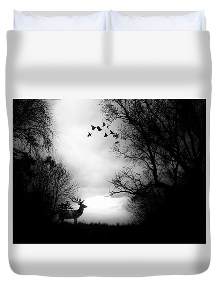 Waking From Winters Sleep Duvet Cover by Michele Carter