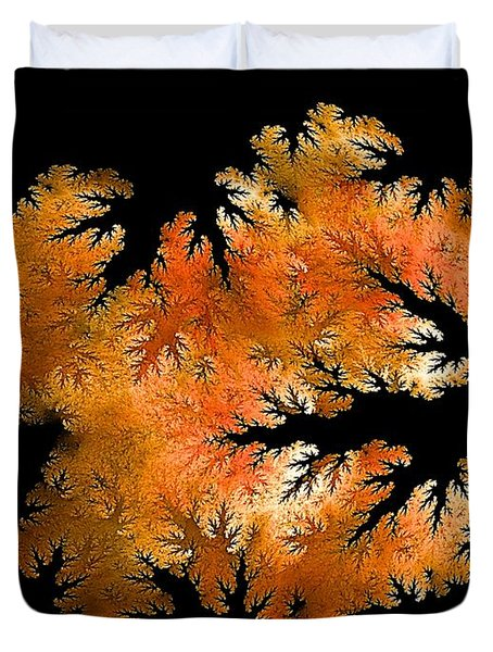 Waking In Mandelbrot Forest-2 Duvet Cover