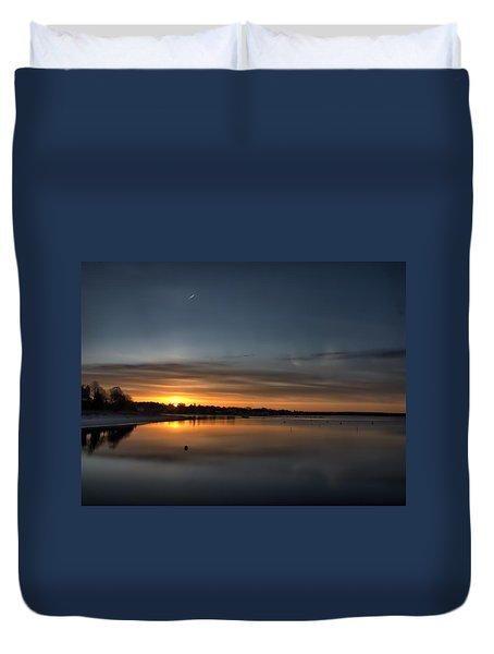 Waking To A Cold Sunrise Duvet Cover