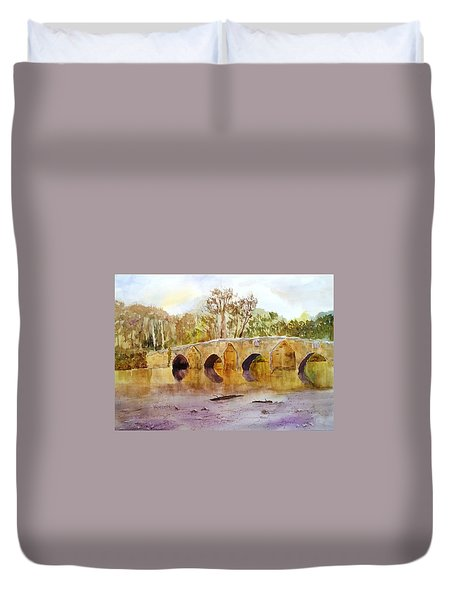 Wales Dipping Bridge Duvet Cover