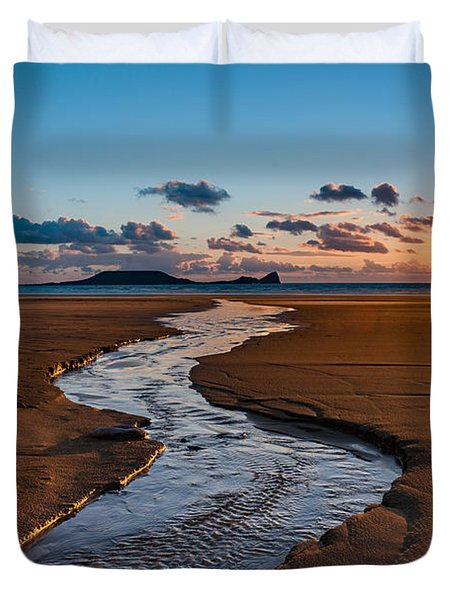 Wales Gower Coast Duvet Cover