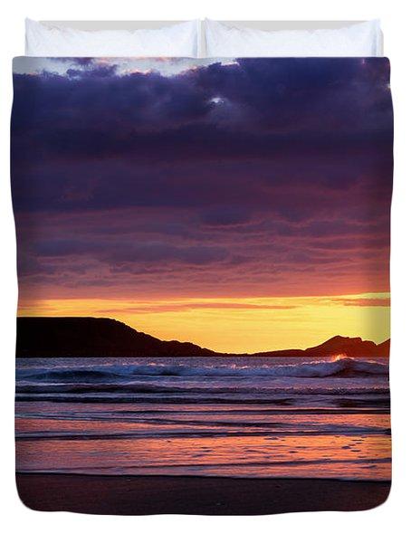 Wales Gower Coast Helvetia Duvet Cover