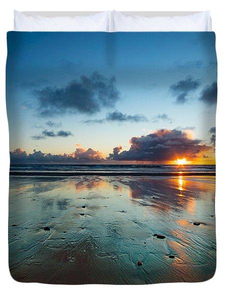 Wales Gower Coast Summer  Duvet Cover