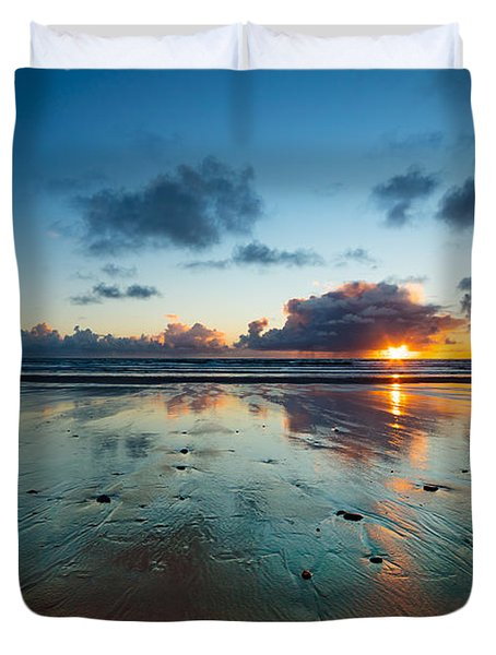 Wales Gower Coast Summer  Duvet Cover