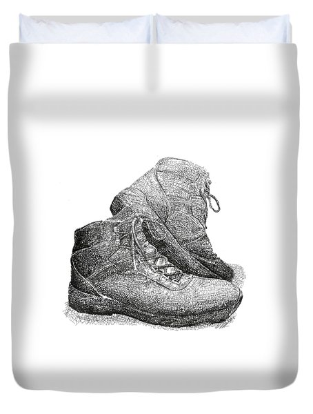 Walk A Mile In My Shoes-john Casanover Ms Project Duvet Cover