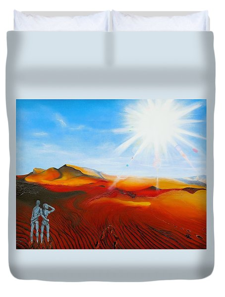 Walk A Mile Duvet Cover by Raymond Perez
