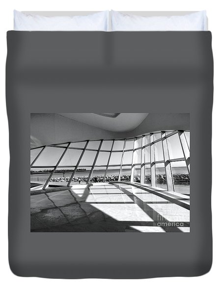 Walk Along The Lake Duvet Cover