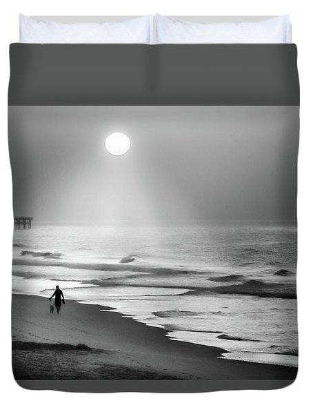 Duvet Cover featuring the photograph Walk Beneath The Moon by Karen Wiles