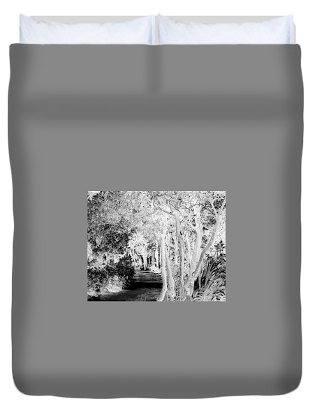 Walk In The Dark Duvet Cover by Dana Patterson