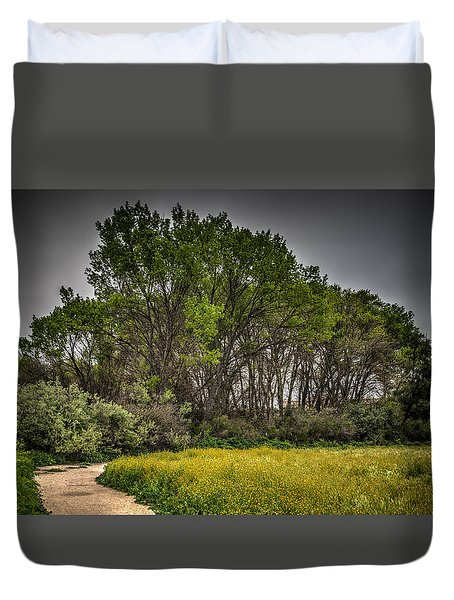 Walk In The Meadow In Spring Duvet Cover