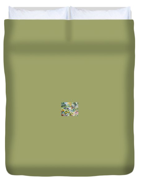 Walk In The Park Duvet Cover
