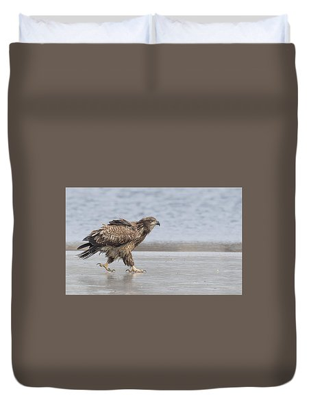 Walk Like An Eagle Duvet Cover by Kelly Marquardt