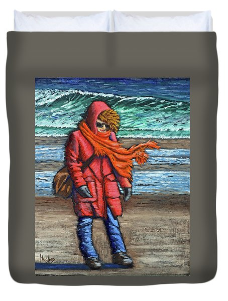 Walk On Beach Duvet Cover