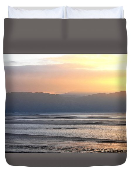 Duvet Cover featuring the photograph Walk On The Beach by Harry Robertson