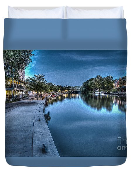 Walk On The Canal Duvet Cover