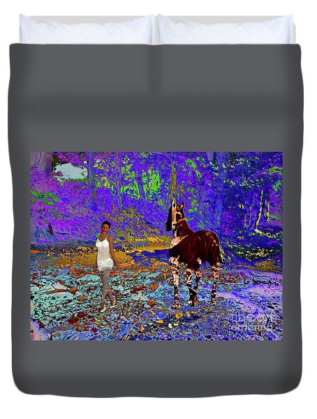 Walk The Enchanted Forest Duvet Cover