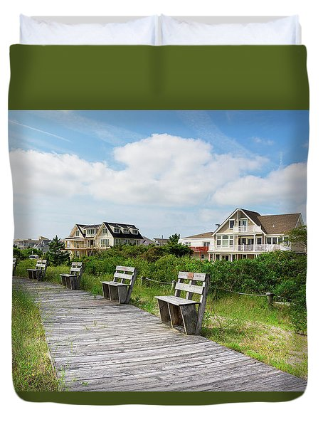 Walk Through The Dunes Duvet Cover
