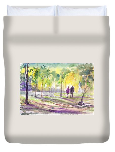 Walk Through The Woods Duvet Cover