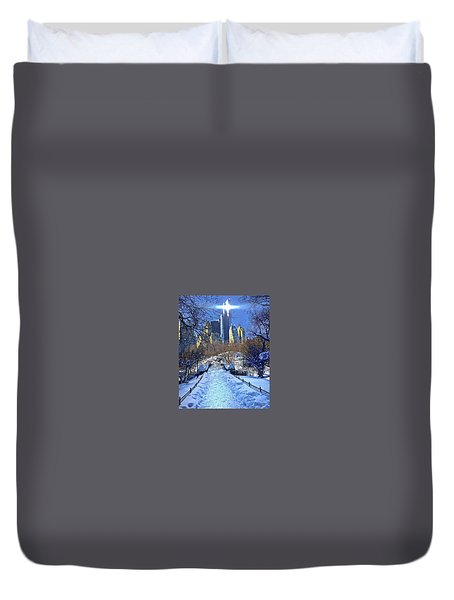 Walk Thru Central Park Duvet Cover