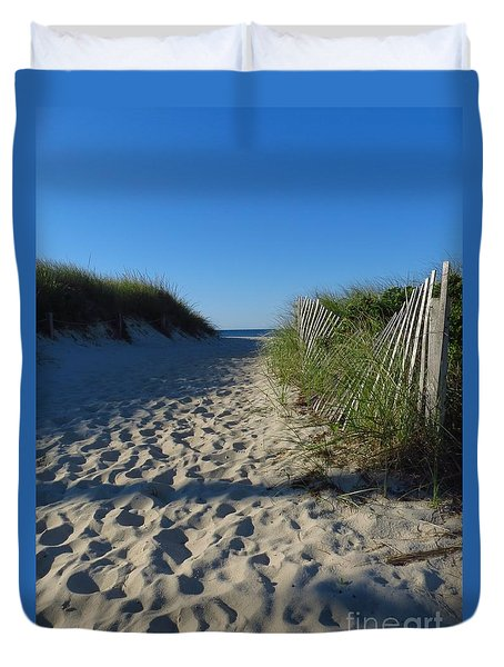 Walk To The Beach Duvet Cover
