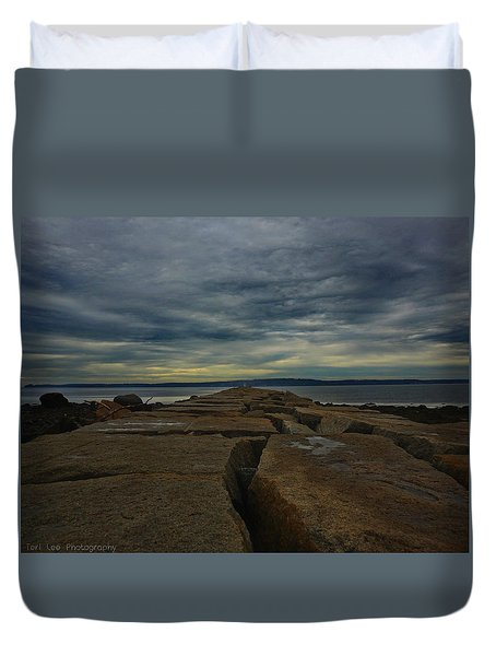 Walk To The Sea Duvet Cover
