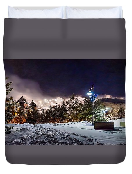 Walk To The Ski Hills Duvet Cover by Jeff S PhotoArt