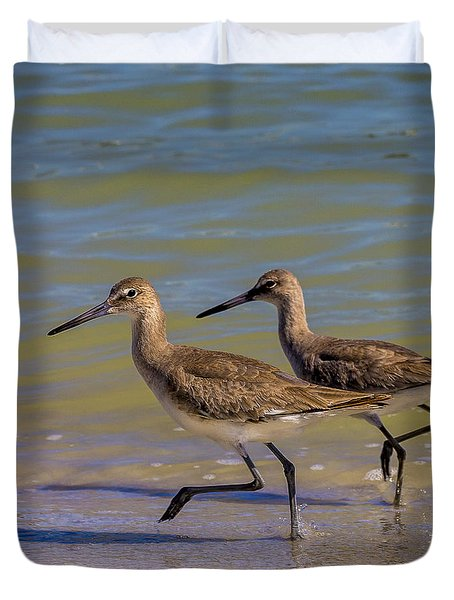 Walk Together Stay Together Duvet Cover by Marvin Spates