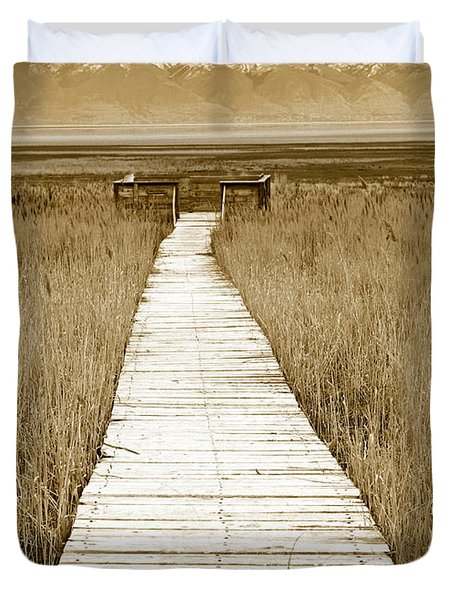 Walk With Me 1 Duvet Cover