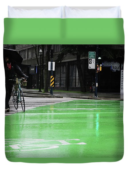 Walk With Wheels  Duvet Cover by Empty Wall