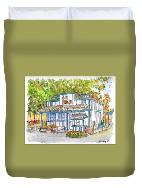 Walker Burger In Walker, California Duvet Cover