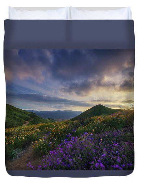 Walker Canyon Duvet Cover by Tassanee Angiolillo