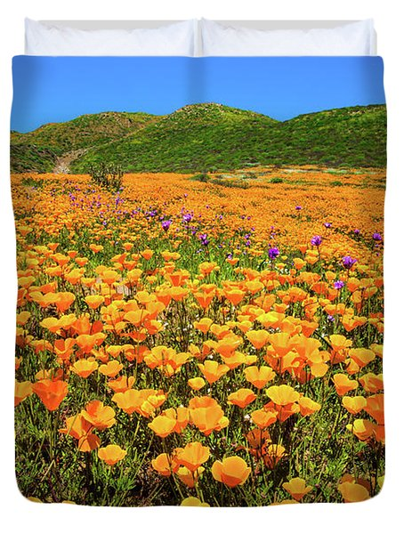 Walker Canyon Wildflowers Duvet Cover