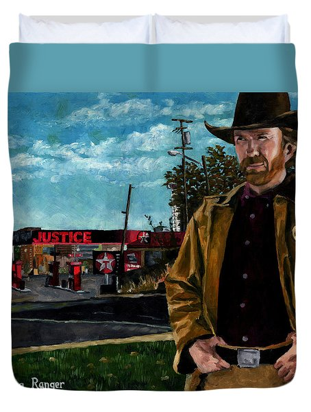 Walker Texaco Ranger Duvet Cover