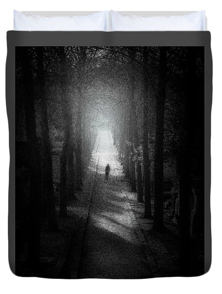 Walking Alone Duvet Cover by Celso Bressan