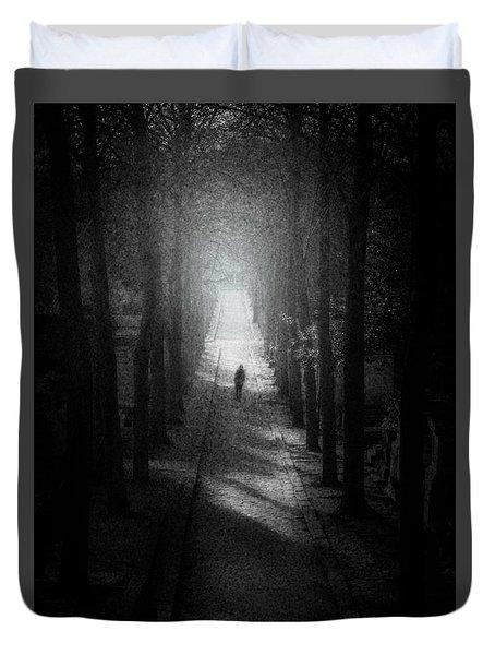 Walking Alone Duvet Cover